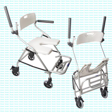 Silla ducha Ercina plegable c/ruedas